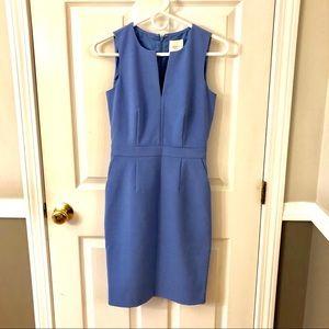 J.CREW suiting 00 blue sheath dress like new